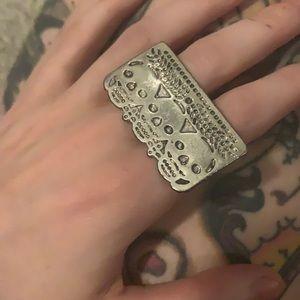 Pamela Love Sugar Skull Double Finger Ring